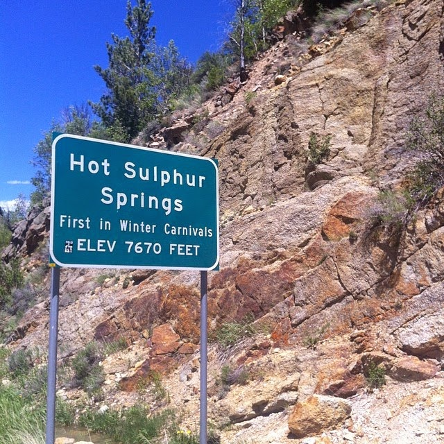 Entering Hot Sulphur Springs