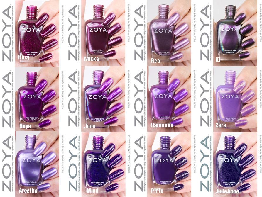 On Nails Spot Zoya Purple Polish Power