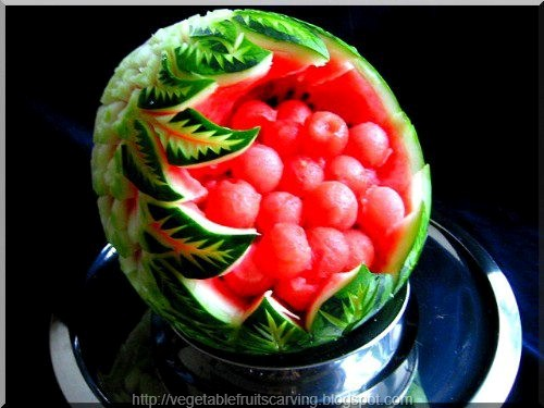 Fruits and vegetable carving pictures