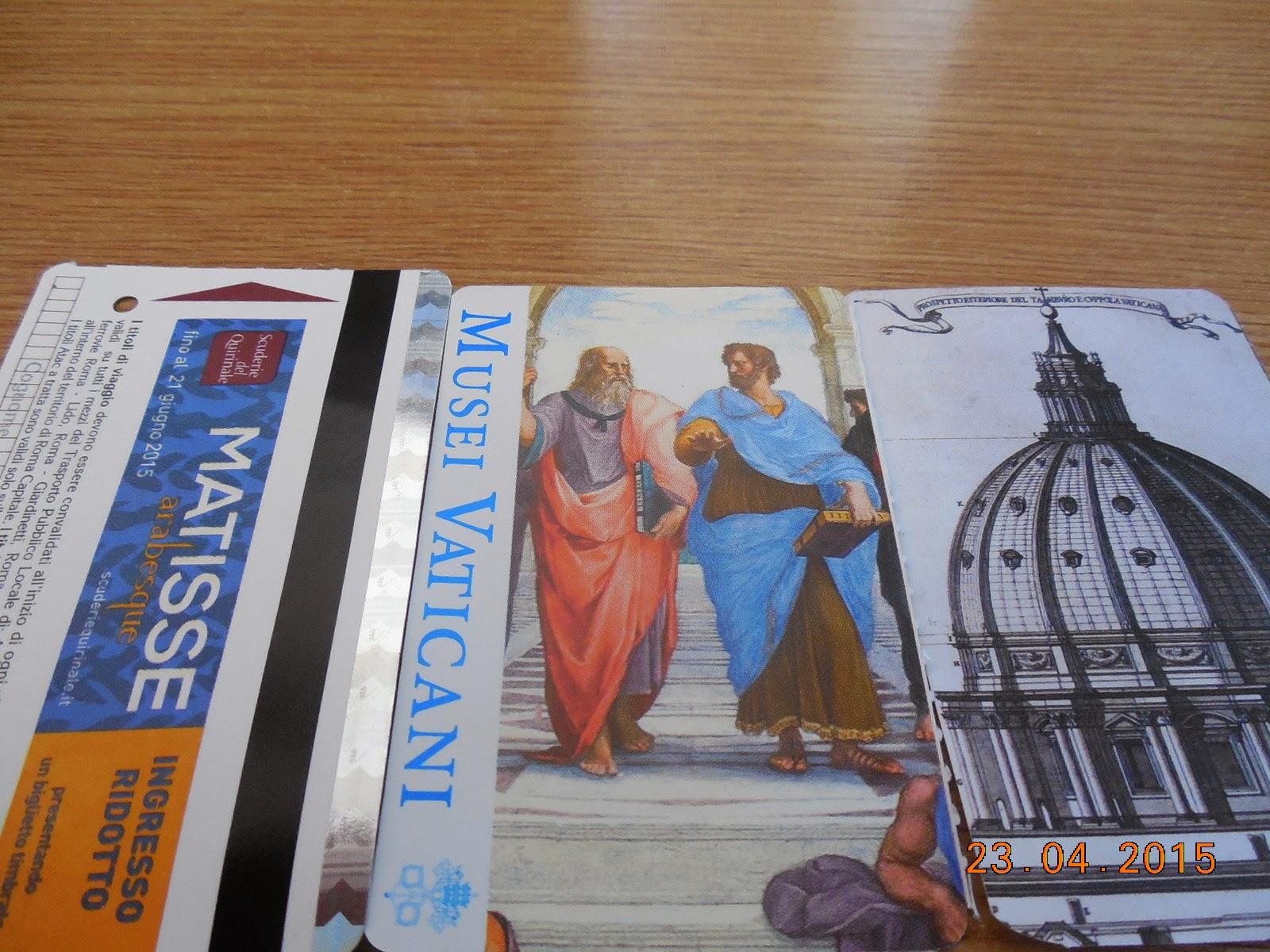 Bilete Vatican si metrou
