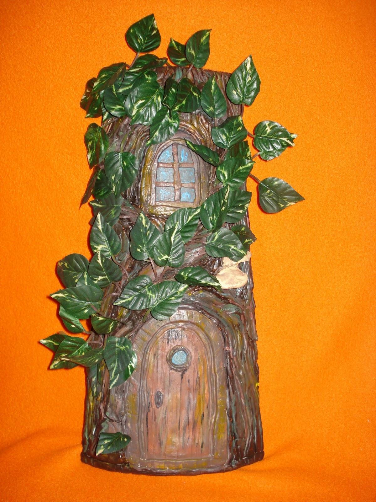 Manualidades y otros entretenimientos teja decorada casa rbol - Pintar tejas de barro ...
