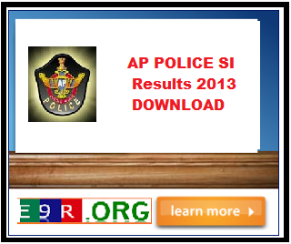 AP Police SI (Sub Inspector) examination results 2013 at apstatepolice.org