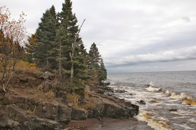 North Shore of Lake Superior close up