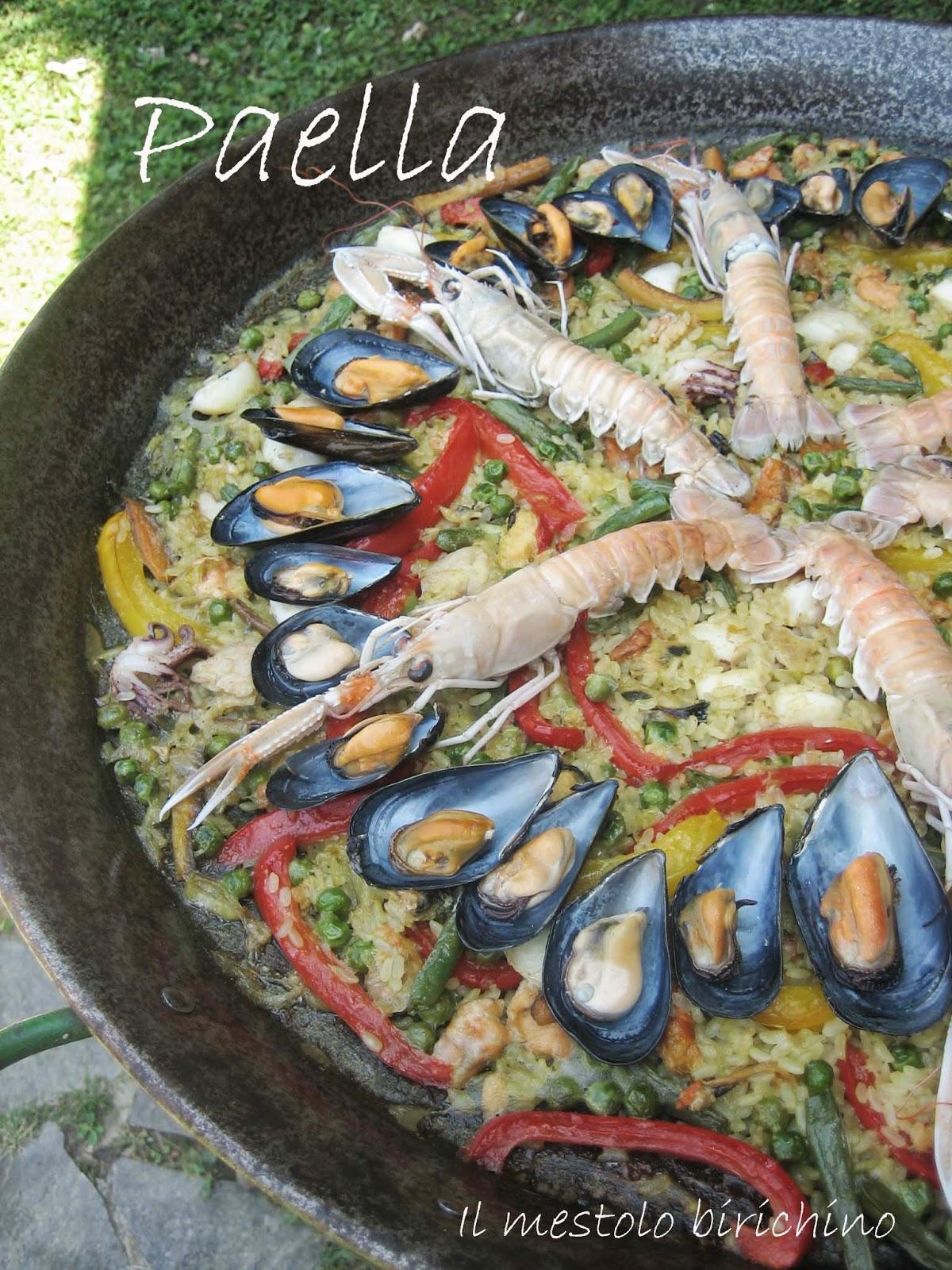 Il mestolo birichino paella de pescado - Paella de pescado ...