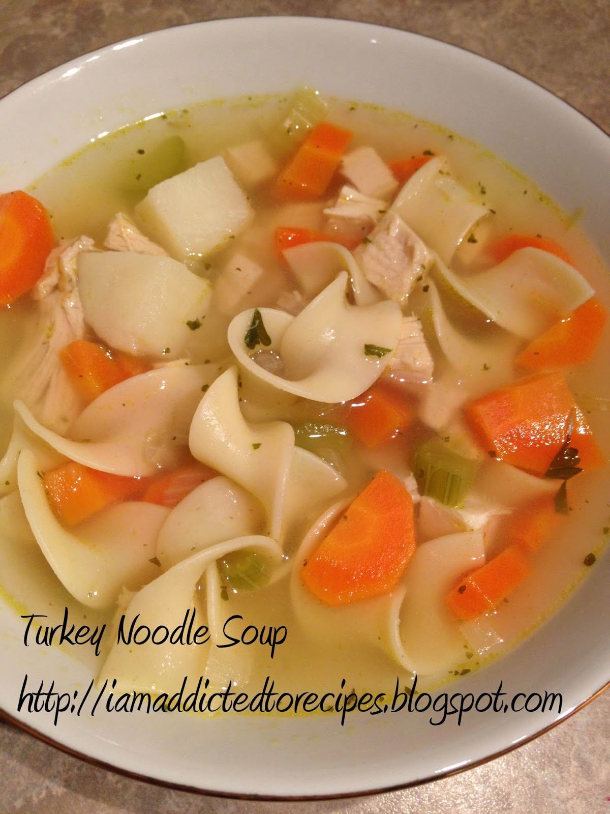 Turkey Noodle Soup | Addicted to Recipes