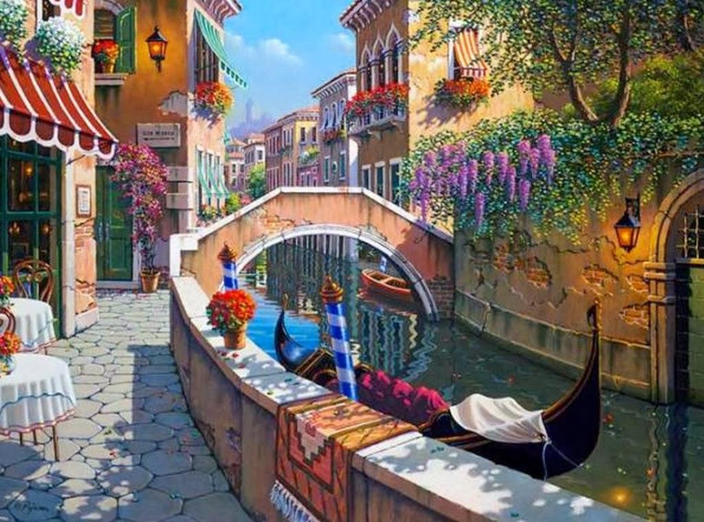 Cuadros modernos pinturas y dibujos galer a paisajes - Cuadros modernos con mucho color ...