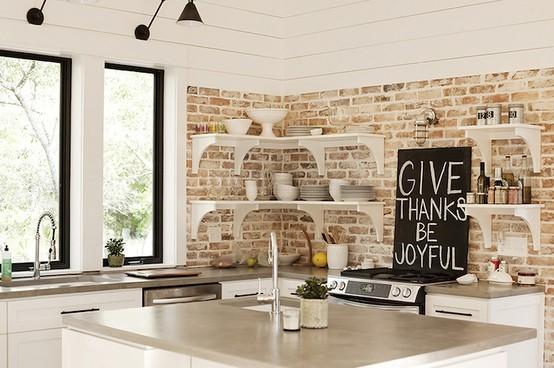 I d e a cocinas con ladrillo visto - Ladrillo visto rustico ...