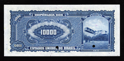 World Banknotes Currency 10000 Cruzeiros Real Reais bill