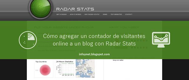 Cómo agregar un contador de visitantes online a un blog con Radar Stats