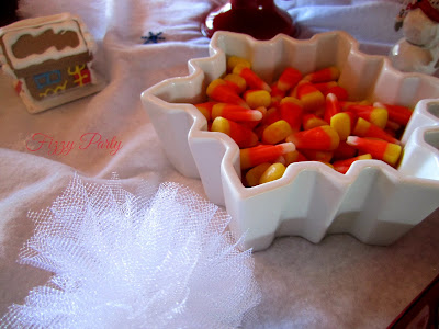 Elf Party, Christmas Party, Fizzy Party, Candy Corn, Tulle Snowballs