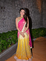 Kajal Agarwal photos at Hanshitha wedding reception-cover-photo