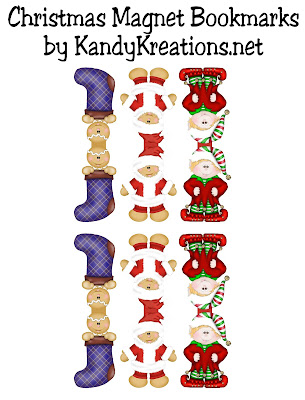Christmas Magnet Bookmark Printable by KandyKreations