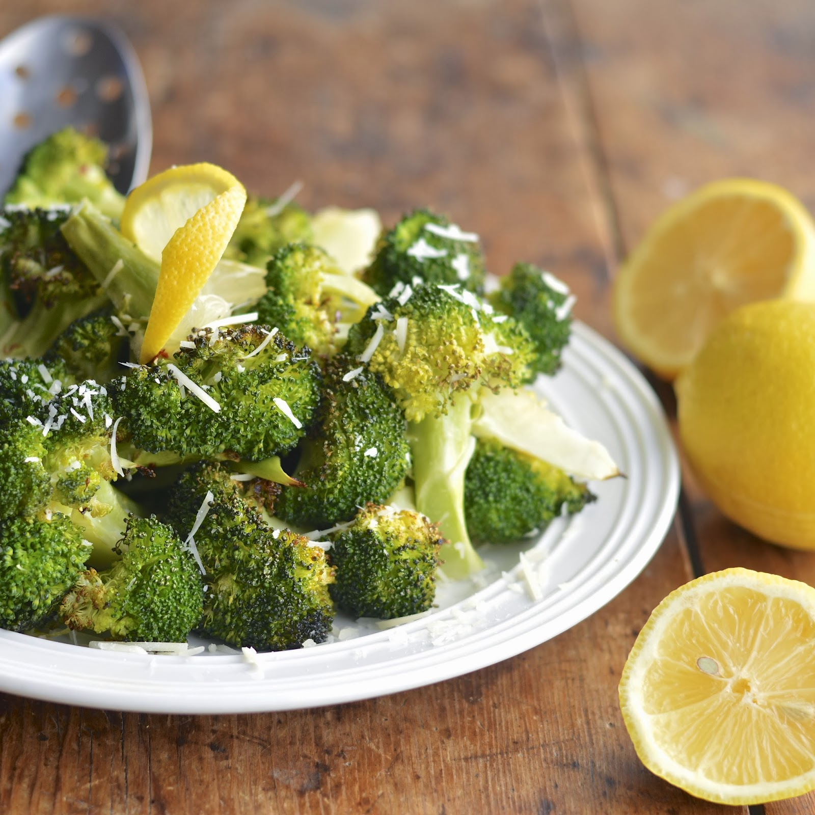 Roasted Broccoli with Garlic, Parmesan and Lemon | Virtually Homemade ...