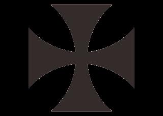 Maltese Cross Cruz de Malta Logo Vector
