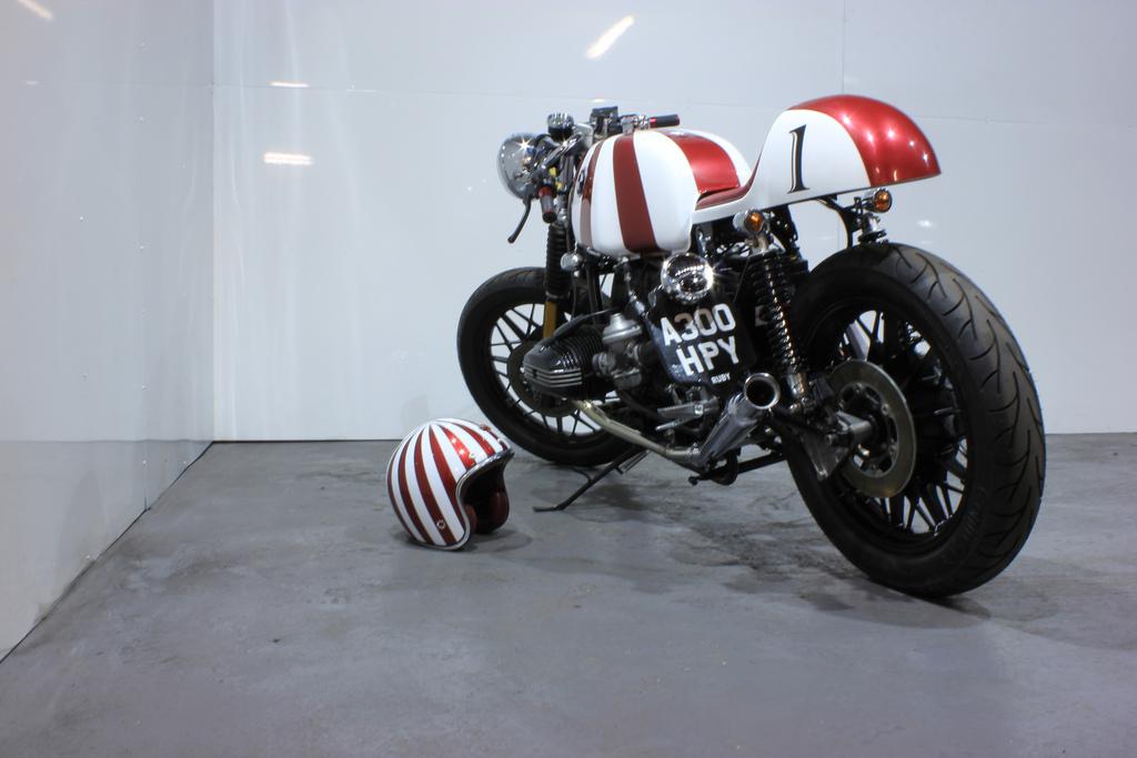 racing caf bmw r100 caf racer ruby by kevils speed shop. Black Bedroom Furniture Sets. Home Design Ideas