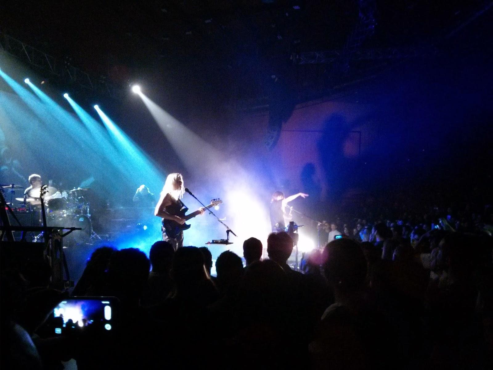 Steven Wilson y su banda vistos a los pies del escenario (1)