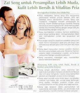 Zinc Plus Zat Seng untuk Penampilan Lebih Muda Kulit Lebih Bersih Meningkatkan Vitalitas dan Libido Pria