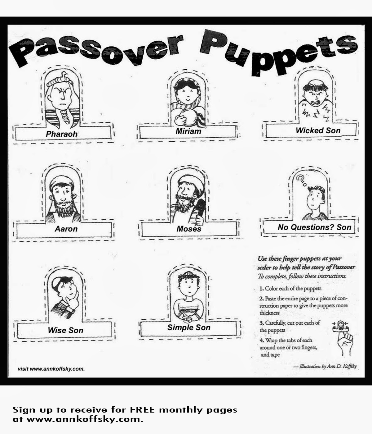 Kar ben publishing 8 passover activities for kids of all ages for Passover coloring page