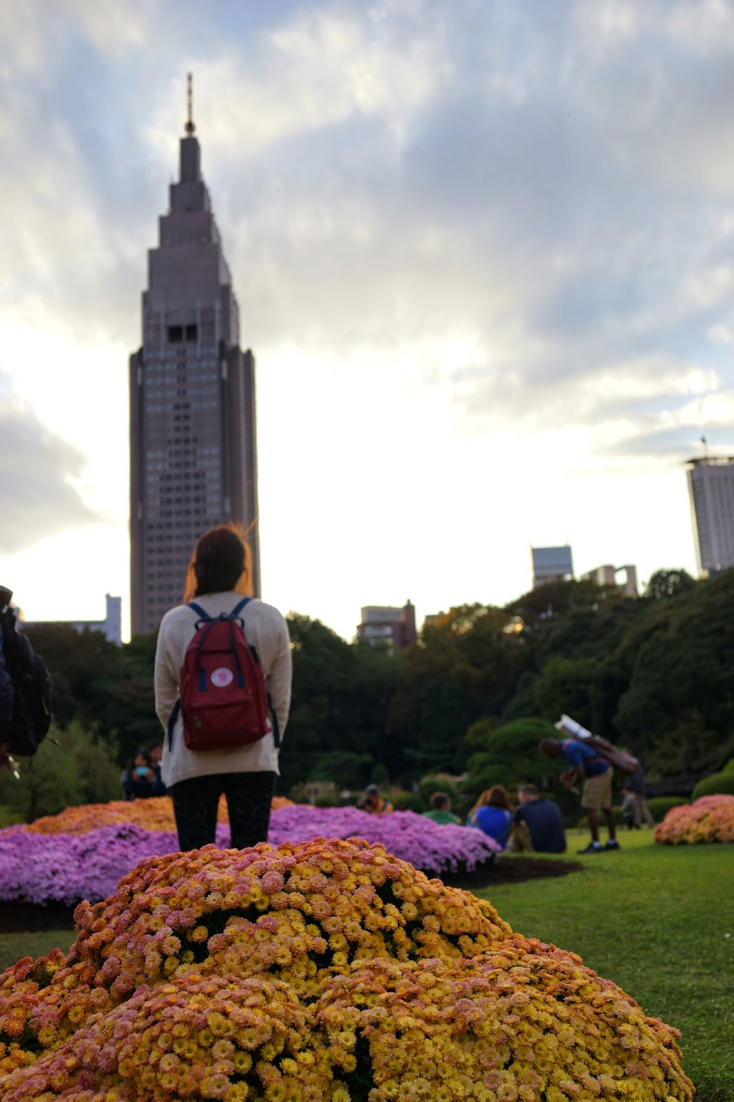 Shinjuku Tower tokyo japan flowers