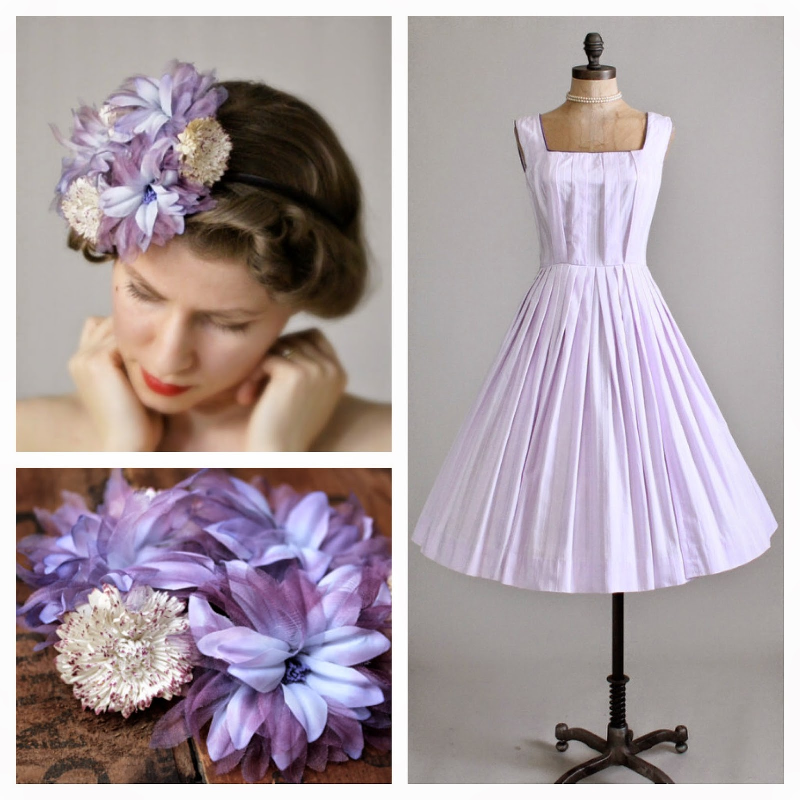 Lavender Cupcake #vintage #dress #lavender #1950s #purple
