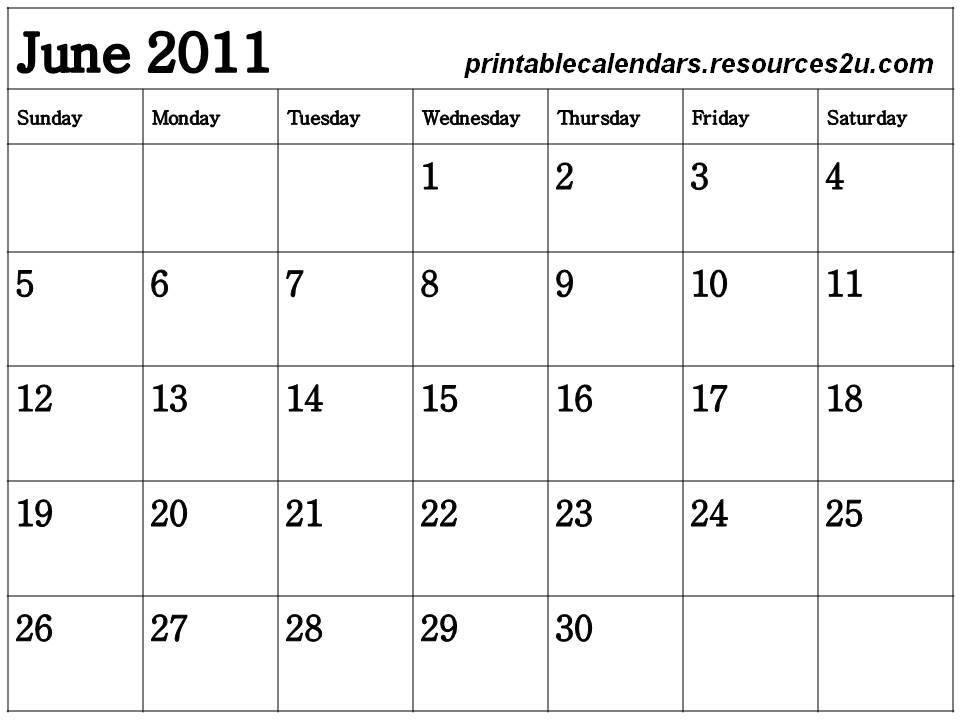 blank june 2011 calendar. june 2011 blank calendar. lank