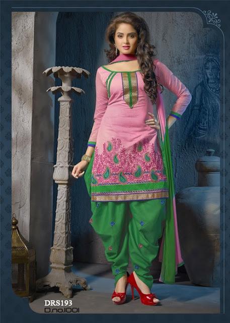 Online Shopping Chanderi Cotton Punjabi Dress Material