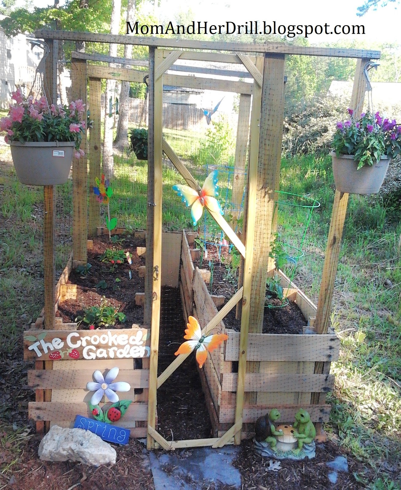 Vegetable Garden For Kids Part - 28: My Neighbor Dawn Came Up With The Name, Since I Was Complaining To Her How  Crooked The Whole Structure Is. (I Told Her I Donu0027t Want Anyone To See This  And ...