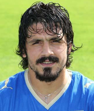 INTERNATIONAL FOOTBALL PLAYERS: Gennaro Gattuso plays as a ...