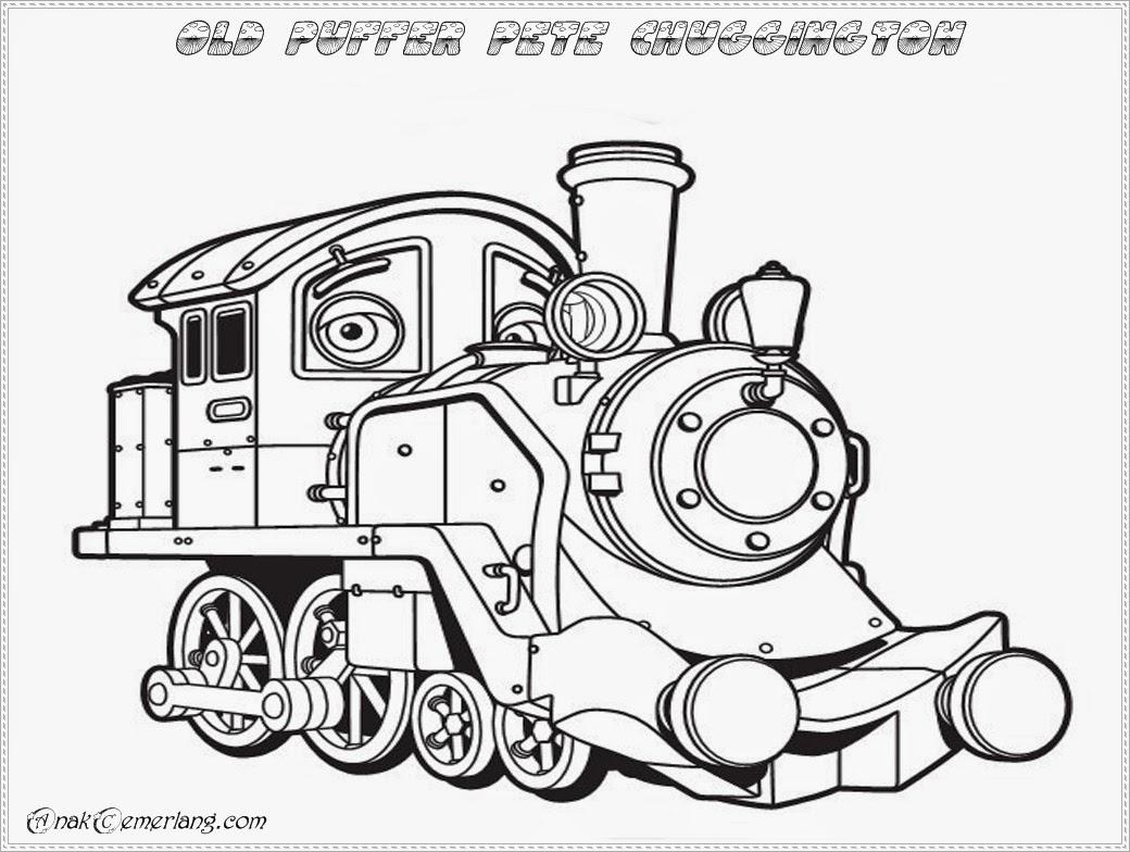belajar mewarnai gambar kereta api
