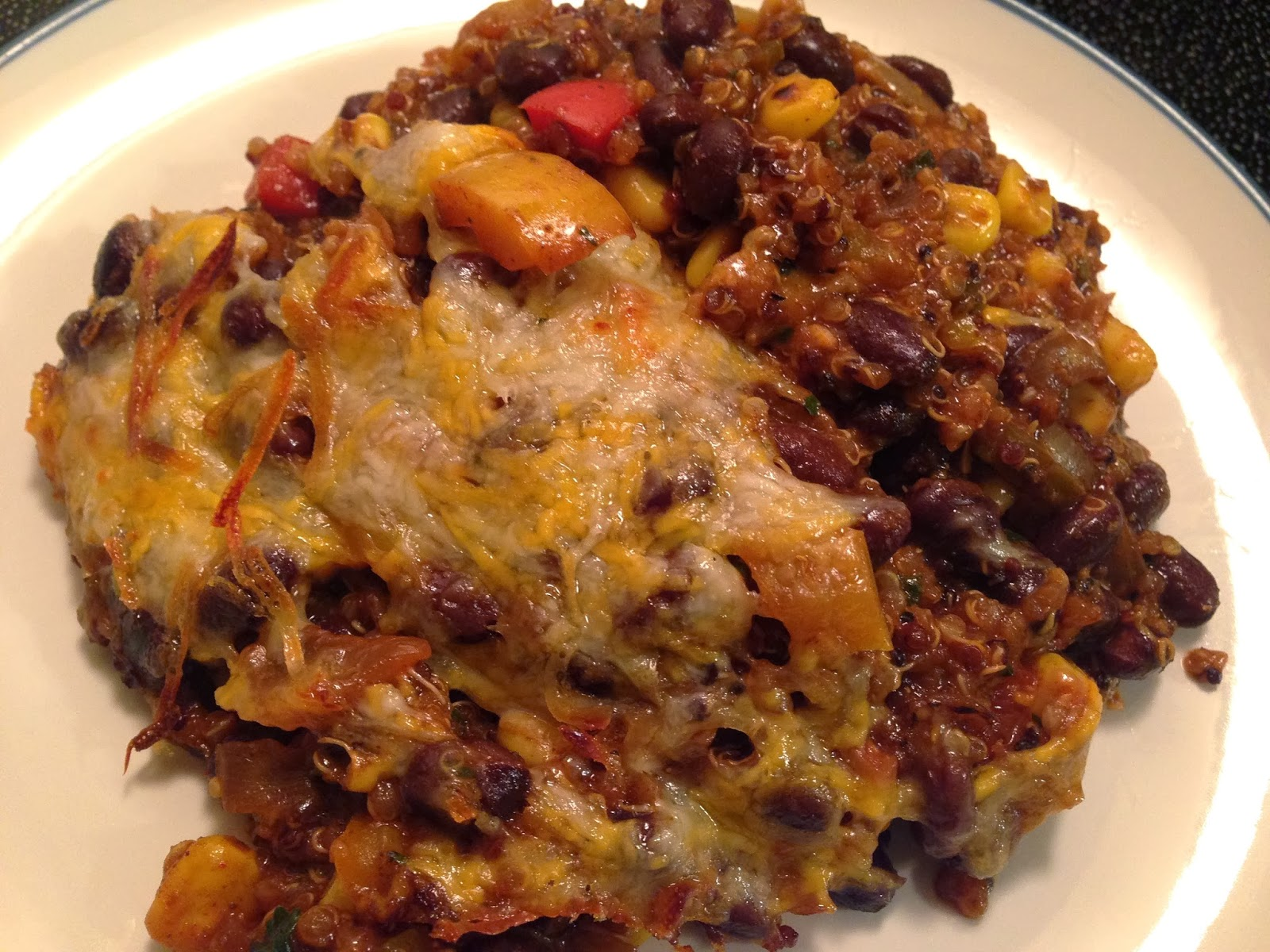 Black Bean and Quinoa Enchilada Bake