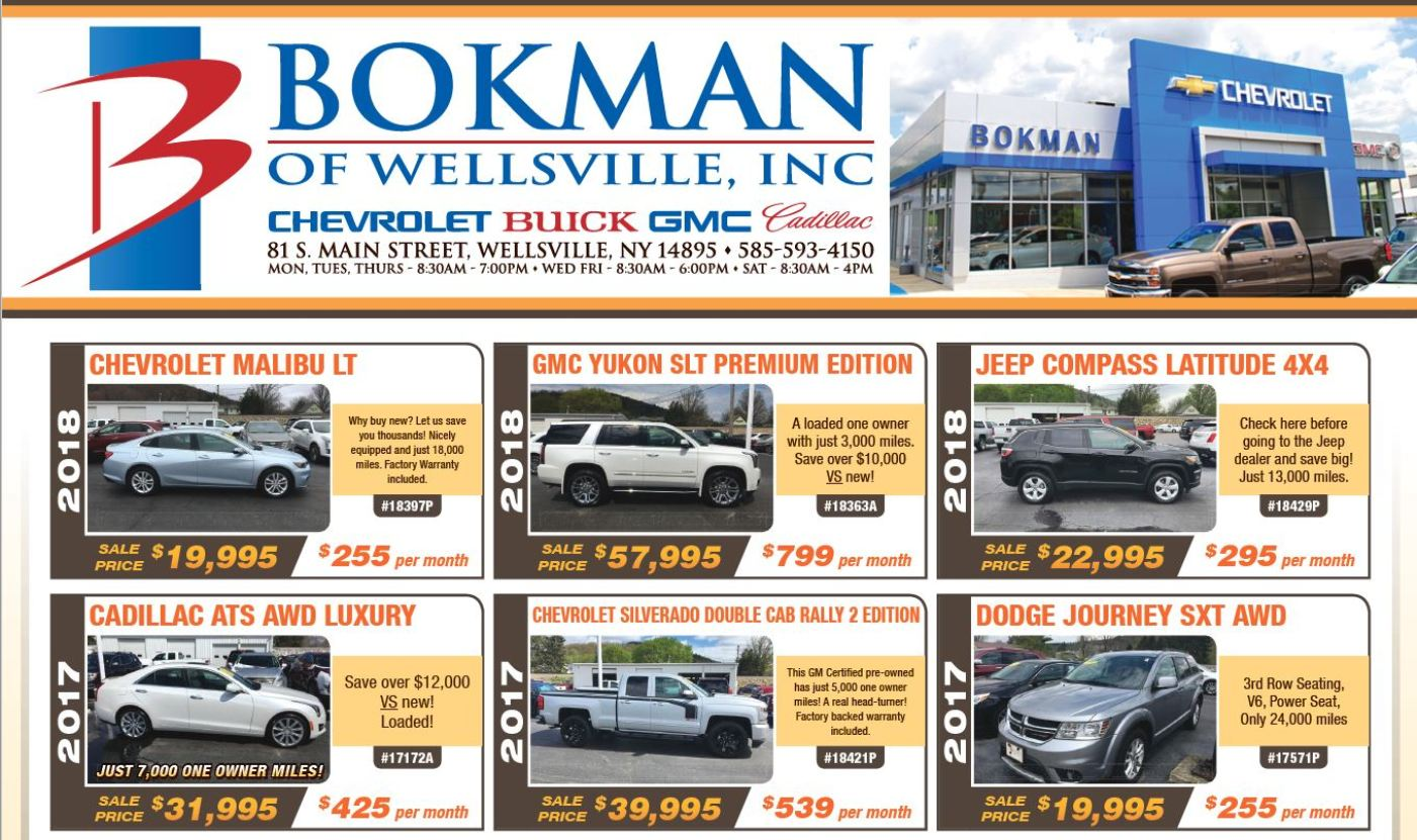 Bokman of Wellsville, NY