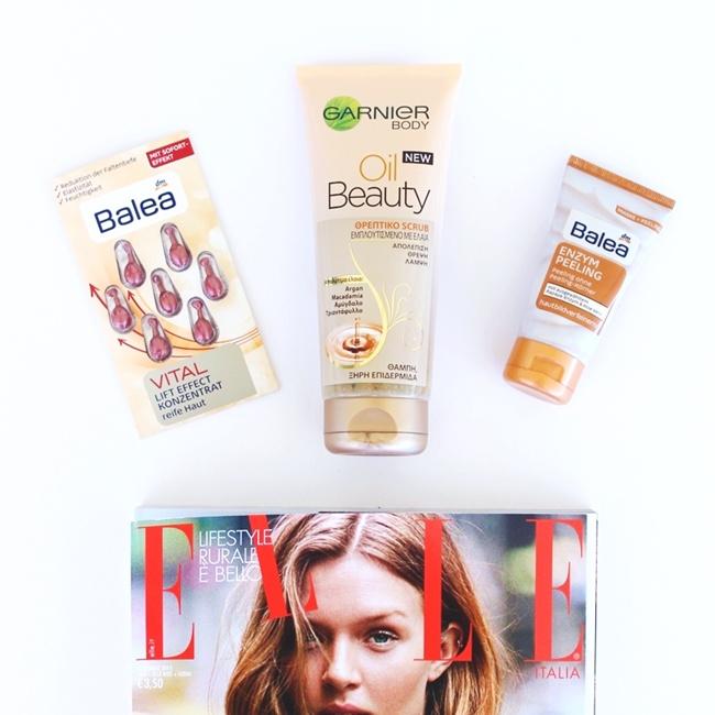 Jelena Zivanovic Instagram @lelazivanovic.Glam fab week.Balea Enzyme peeling Vital lift concentrate capsules.Garnier oil beauty body scrub.Best Balea products.Najbolji Balea proizvodi.