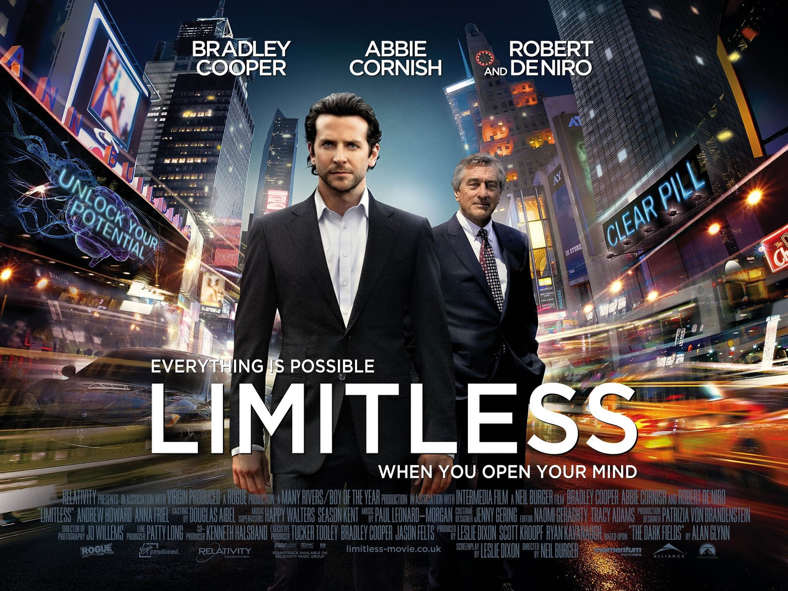 movie on limitless Limitless - with the help of a mysterious pill that enables the user to access one hundred percent of his brain abilities, a struggling writer becomes a financial wizard, but it also puts him in a new world with lots of dangers.