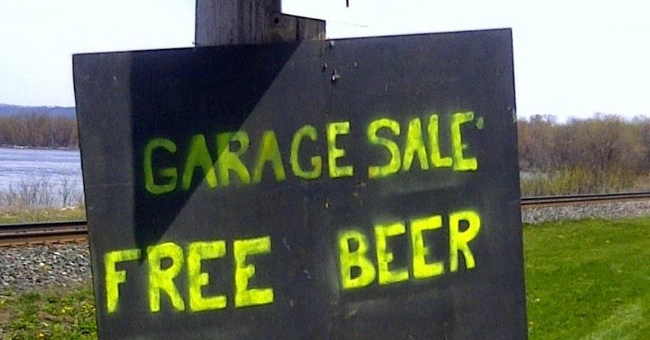 garage sale sign of the week free beer okc craigslist