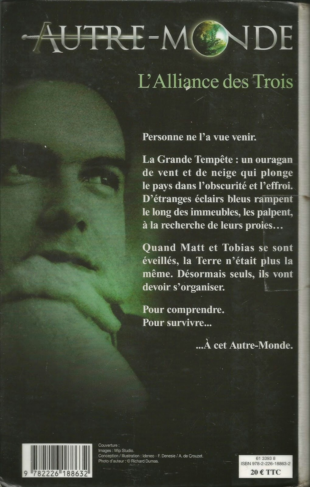 autre monde Maxime Chattam quatrième de couverture back cover