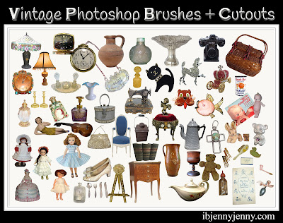 Free Vintage Photoshop Brushes plus Cutouts
