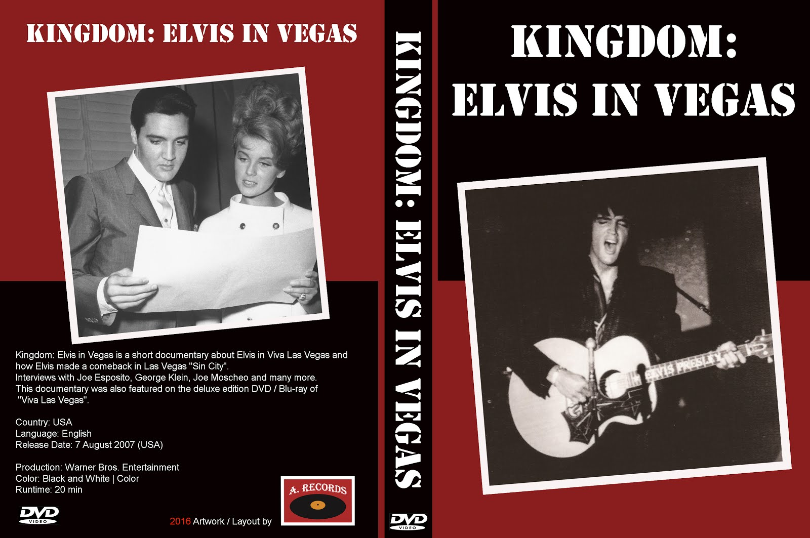 Kingdom: Elvis In Vegas (DVD) (January 2016)