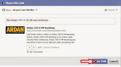Radio via Facebook