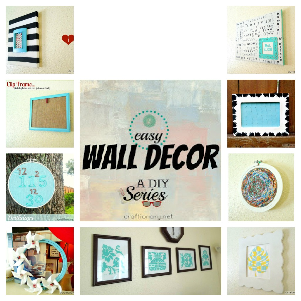 Easy wall decoration crafts for Art and craft ideas for home decoration