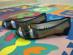 Burberry Check Leather Strap Pump Shoes(SOLD)