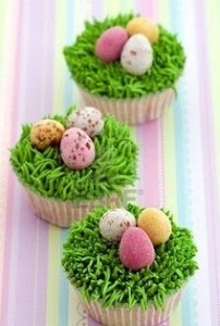 Cupcake ninho de páscoa