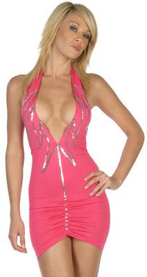 modern party dresses design with pink short wedding dress