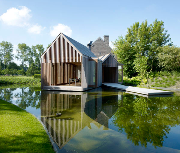 Modern architecture farmhouse wim by goes architectuur for Modern rustic farmhouse plans