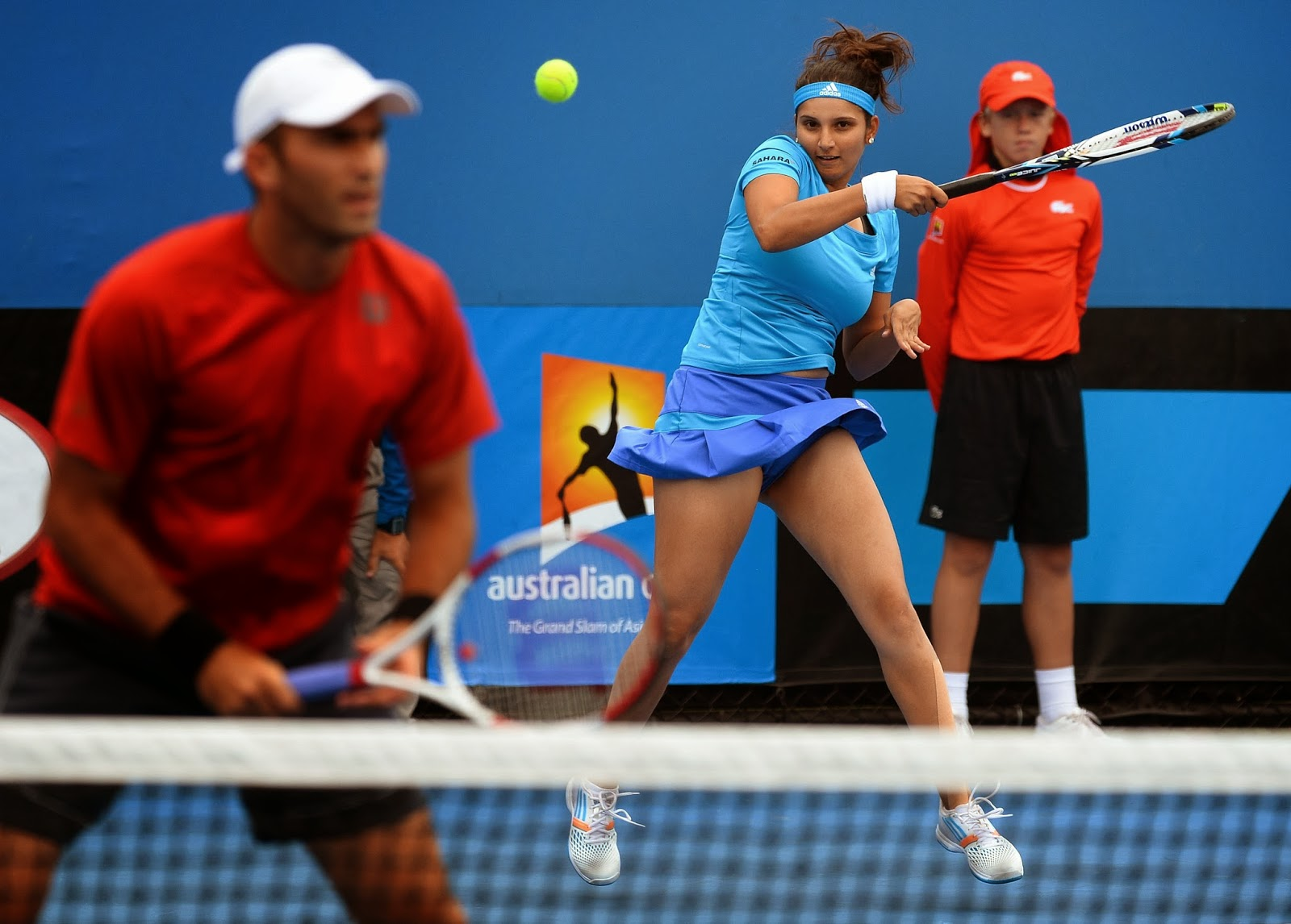 2014, Australia, Australian Open, Match, Melbourne, Russia, Sports, Tennis, Tournament, Women, Mixed Doubles, Horia Tecau, Romania, India, Sania Mirza,