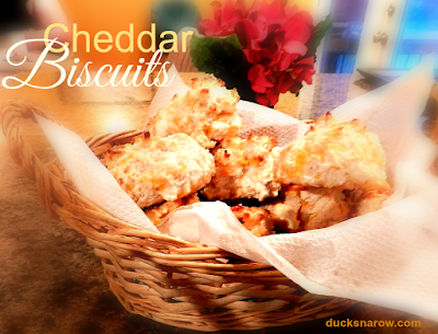 Cheddar Garlic biscuits are easy to make! #biscuits #Bisquick