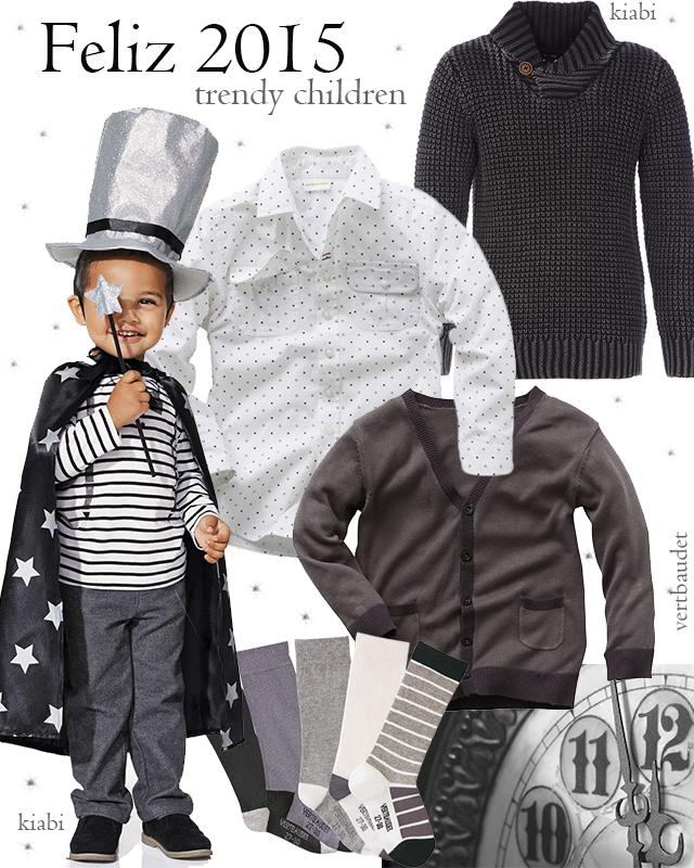 moda infantil niño nochevieja trendy children