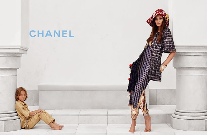 Chanel Cruise Campaign 2015 featuring Joan Smalls and Hudson Kroenig