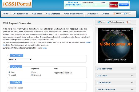 CSS Portal Generator