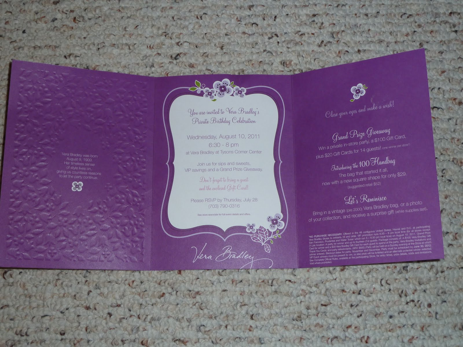 Now to some pictures of the beautiful invitation!