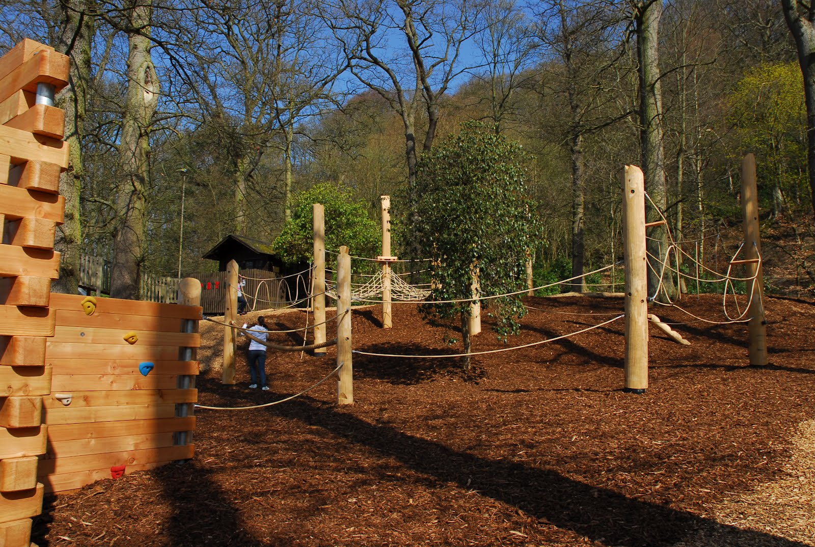 New climbing forest in the adventure playground